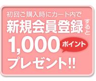 会員募集1000ポイント
